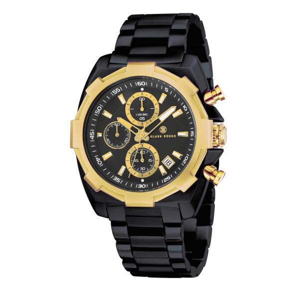Mens Black Designer Watch KK-20008-44